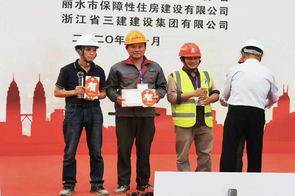 中立建设代表队参加砌筑技能竞赛并获佳绩